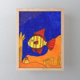 Down the Seas Framed Mini Art Print