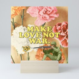 Make Love Not War Mini Art Print