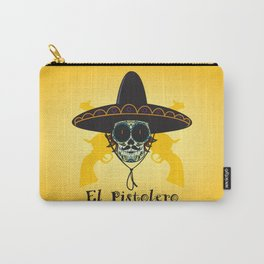 El Pistolero.Mexican sugar skull Carry-All Pouch