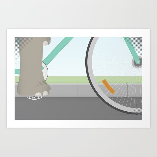 Elephants Can Ride Bicycles Too Art Print