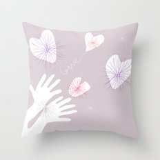 GIVE! Throw Pillow