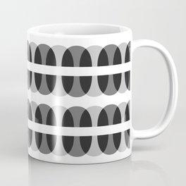 Geometric Pattern 232 (gray ovals) Coffee Mug