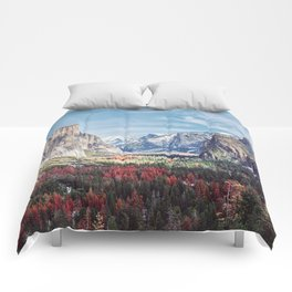 Tunnel View Yosemite Valley Comforters