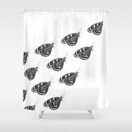 Butterfly swarm Shower Curtain