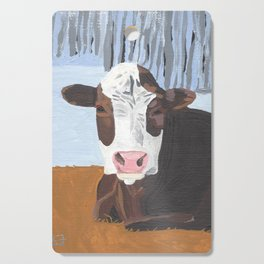 Cow In The Winter Cutting Board