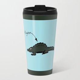 Cat eatin Gator Travel Mug