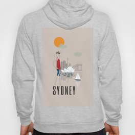 Sydney - In the City - Retro Travel Poster Design Hoody