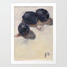 Black Olives Still Life Oil Painting Food Minimalist Impressionist Art Art Print