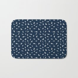 Silky Sharks Pattern Bath Mat
