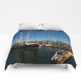 Westport Harbor Scene Comforters