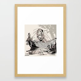 "Inktober 02 Tranquill ""escape like the lady of shalott"" Framed Art Print"