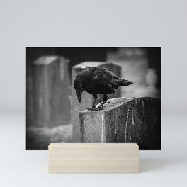 Cemetery Crow Mini Art Print