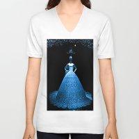 china V-neck T-shirts featuring China by Saundra Myles