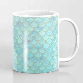 Teal Mermaid Scales Coffee Mug