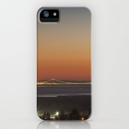 November Sunset over the Severn iPhone Case