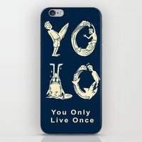 yolo iPhone & iPod Skins featuring YOLO by Coffee Man