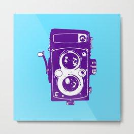 Big Vintage Camera - Purple / Blue Metal Print