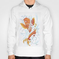 koi fish Hoodies featuring Koi Fish by Give me Violence