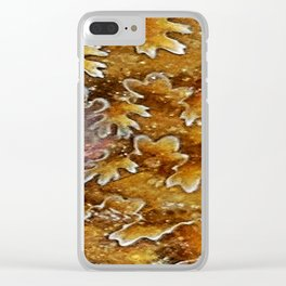 Opalized Sutured Ammonite Clear iPhone Case