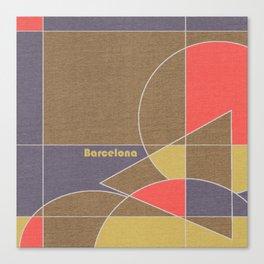 Barcelona Mosaic Canvas Print