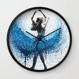 Clair De Lune Ballerina Wall Clock