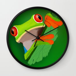 Red-eyed tree frog Wall Clock