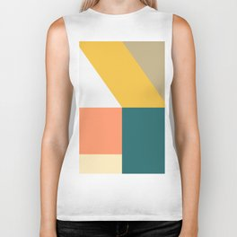 Abstract Geometric 18 Biker Tank