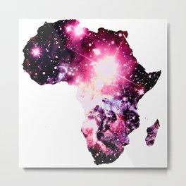 Nebula Galaxy Africa Pink Purple Metal Print