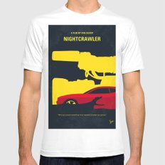 No794 My Nightcrawler minimal movie poster Mens Fitted Tee MEDIUM White