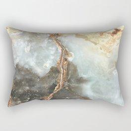 Golden Grey Marble Rectangular Pillow