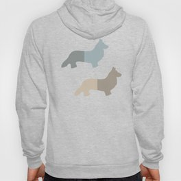 Welsh Corgi Pattern - Natural Colors Hoody