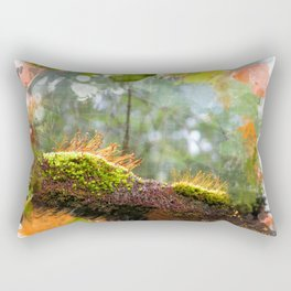 Beautiful abstract painted rain forest moss Rectangular Pillow