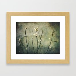 Golden Wing Framed Art Print
