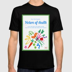 Picture of Health Mens Fitted Tee MEDIUM Black