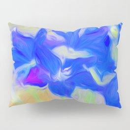 Blue Flower Bouquet Pillow Sham