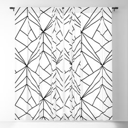 Black and White Geometric Pattern Blackout Curtain