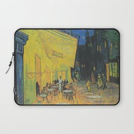 Cafe Terrace at Night by Vincent van Gogh Laptop Sleeve