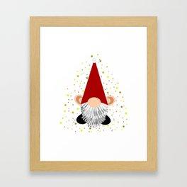 Santa - Gnome Framed Art Print