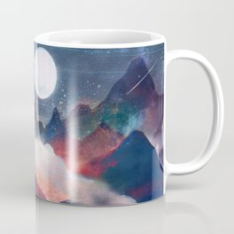 Mountain Lake Under the Stars Coffee Mug