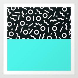 Memphis pattern 48 Art Print
