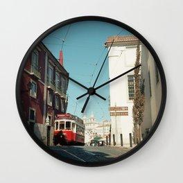 Lisbon red tram, Portugal Analog 6x6 Kodal Ektar 100 (RR 165) Wall Clock