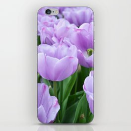 Mauve tulips iPhone Skin