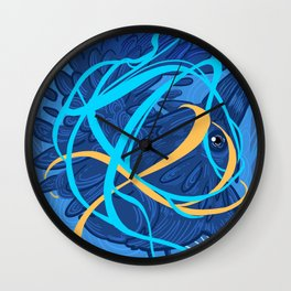 A Raven Thought Wall Clock