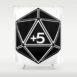 D20 Plus 5 Bonus to Everything Shower Curtain