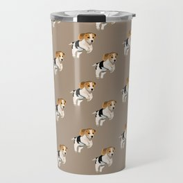Beagle Pattern Travel Mug