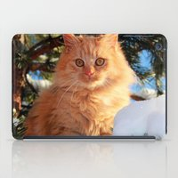 garfield iPad Cases featuring Winter Garfield  by Lucie