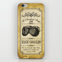 Steampunk Apothecary Shoppe - Goggles iPhone Skin