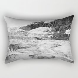 Four-legged George on the Rocks Rectangular Pillow