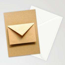 Brown envelope.  Stationery Cards
