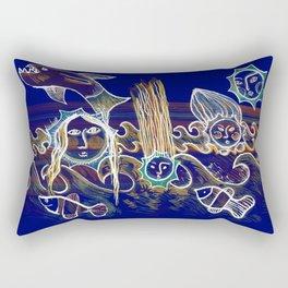 More Suns for Life at Deep Blue Rectangular Pillow